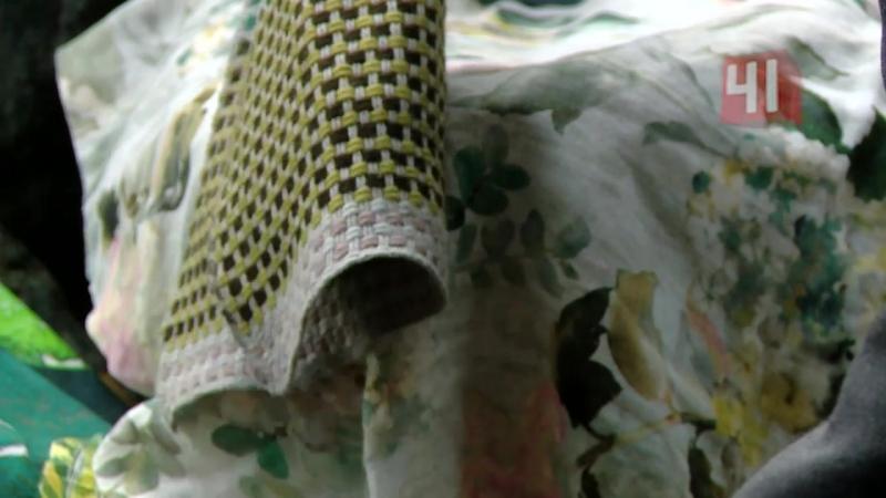 Ткани Designers Guild на фоне уральского леса