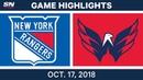 NHL Highlights | Rangers vs. Capitals - Oct. 17, 2018