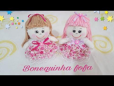 Aprenda a fazer uma linda bonequinha sem máquina feita a mão Artesanato decoração com Cris Pinheiro