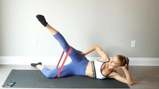 Madie Lymburner - Inner and Outer Thigh Workout | Тренировка для внутренней и внешней поверхности бедра с фитнес-резинкой