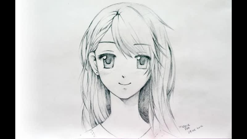 Как нарисовать аниме-манга девушку