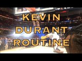 Kevin Durant pregame routinedunkautographs in Cleveland at The Q before 2018 NBA Finals G3