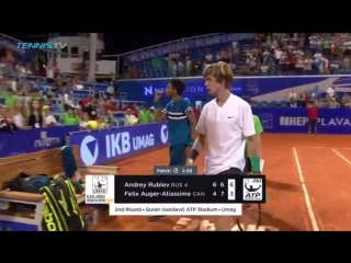 Back with a BANG - Defending champ AndreyRublev beats Felix Auger-Aliassime 6-4 6-7 6-3
