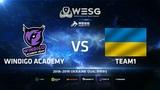 Windigo Academy vs Team1, map 1 Dust2, WESG 2018-2019 Ukraine Finals