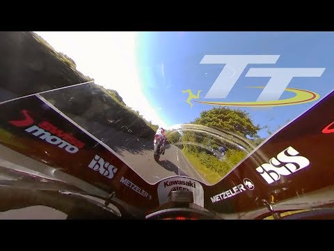 GUY MARTIN and Horst Saiger   EPIC Isle of Man TT On Bike Lap with Commentary!