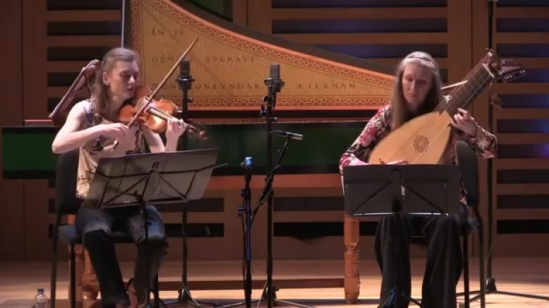 1025 J S Bach Suite in A major for violin and lute BWV 1025 Penelope Spencer Lynda Sayce