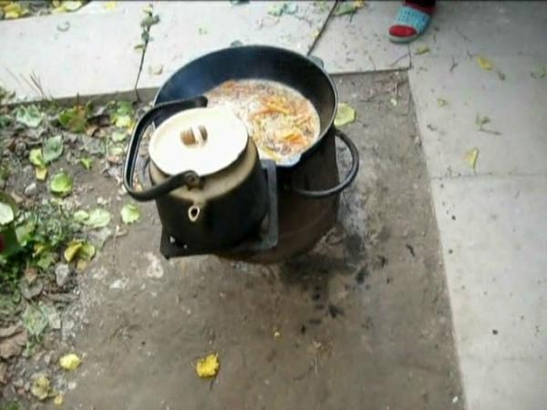 Рациональное использование энергии пламени дров в очаге при приготовлении обеда