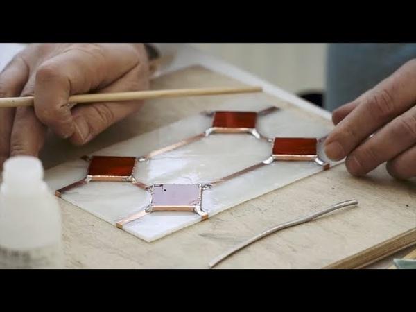 Необычный способ создания геометрического витража. Техника Тиффани для начинающих