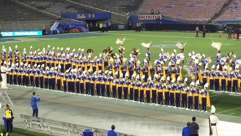UCLA Marching Band performing Pressure by Muse