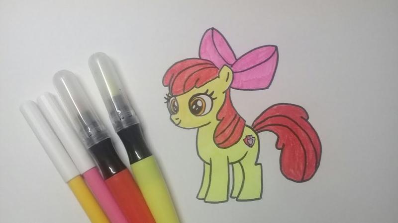 Эппл Блум как нарисовать пони дружба это чудо / speed drawing Apple Bloom my little pony