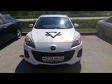 149-й авто криптовалюты Prizm в Новосибирске, Белая Mazda 3, м033ав, 77 Rus
