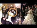 Park Chanyeol cute reaction at Yoora kissing 💞her husband Exo Singing at Yoorawedding EXO Chanyeol