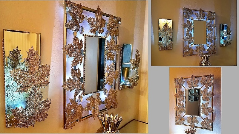 Exquisite Wall Mirror Matching Wall Sconces| Wall Hanging Decorating Ideas|Dollar Tree Hack!
