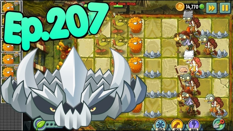 Plants vs Zombies 2 Spikerock Snapdragon and Endurian Lost City Day 9 Ep 207