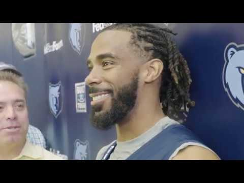 Mike Conley Still Enjoys Training Camp | Training Camp Day 1 Interview