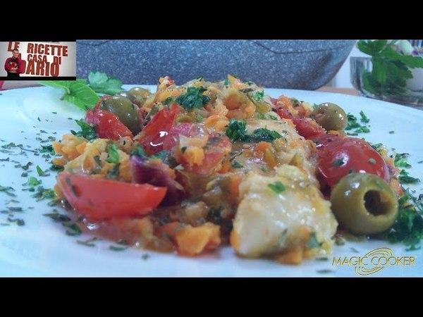 Filetti di Pesce Persico con pomodori datterino e olive preparati da Dario con Magic Cooker 304