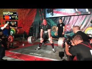 Дараган Сергей становая тяга 421 кг