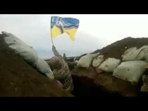 Флаг со свастикой на украинских позициях. На Украине-то фашистов нет