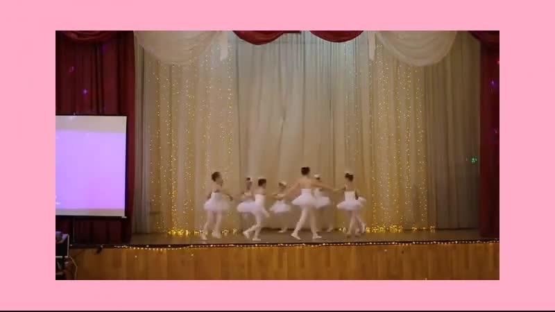 Наши маленькие балерины первый раз на большой сцене