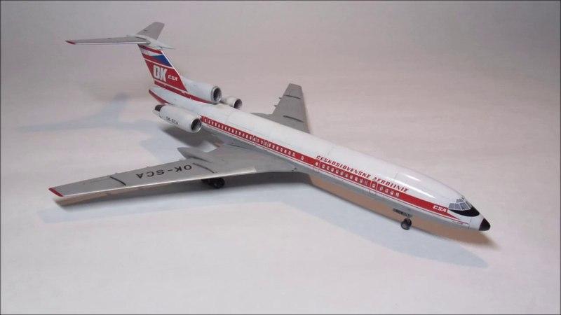 Tupolev Tu 154M, 1/144 Build (Zvezda)