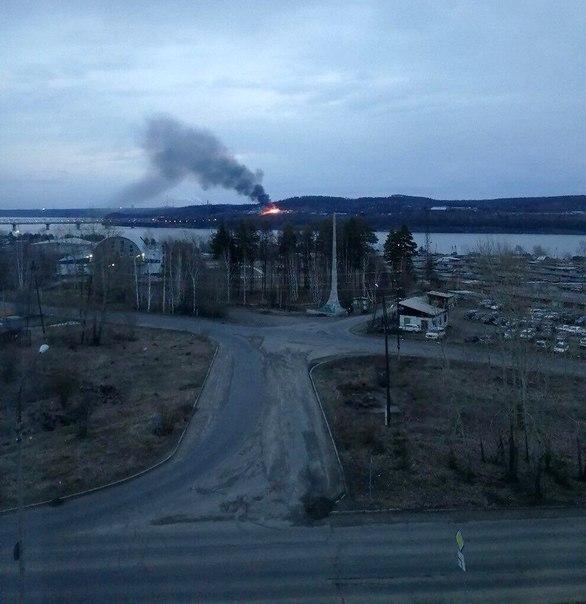Пожар в Усть-илимске 08.05.2018