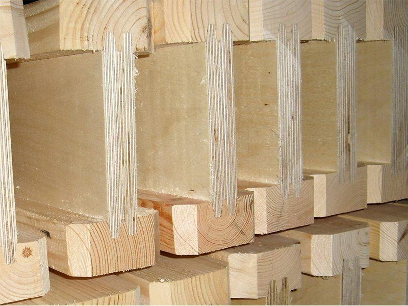 Что собой представляют деревянные двутавровые балки перекрытия