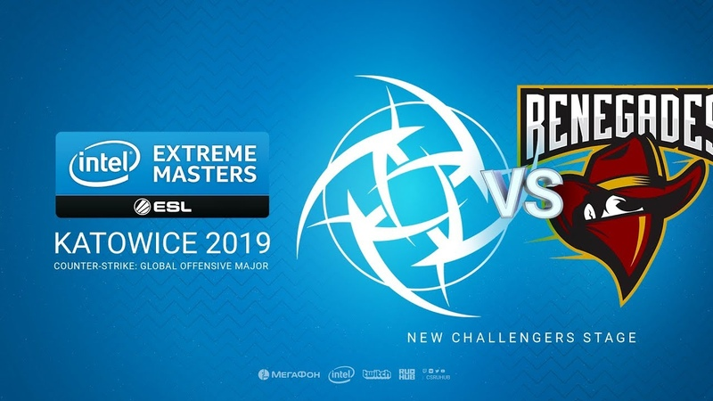 NiP vs Renegades - IEM Season XIII - Katowice Major 2019 - bo1 - de_mirage [MintGod Pchelkin]
