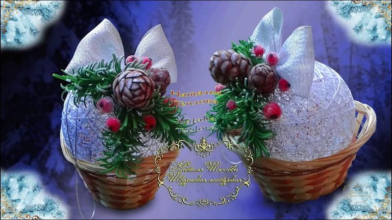 Еловая веточка и шишки из фоамирана для новогоднего декора Spruce twig and cones of foamiran for New