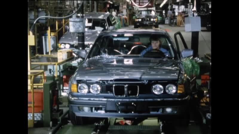 Производство BMW 7 Series E32. И это 80-е годы