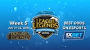 League of Legends LCS NA 2018, Week 5 promo by 1xBet