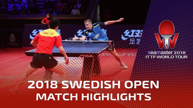 Fan Zhendong vs Mattias Falck I 2018 ITTF Swedish Open Highlights 1 2
