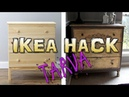 DIY| AWESOME IKEA HACK - Tarva Dresser Transformation