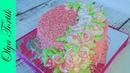 Кремовый торт с цветами Розы из крема Olya Tortik Домашний Кондитер