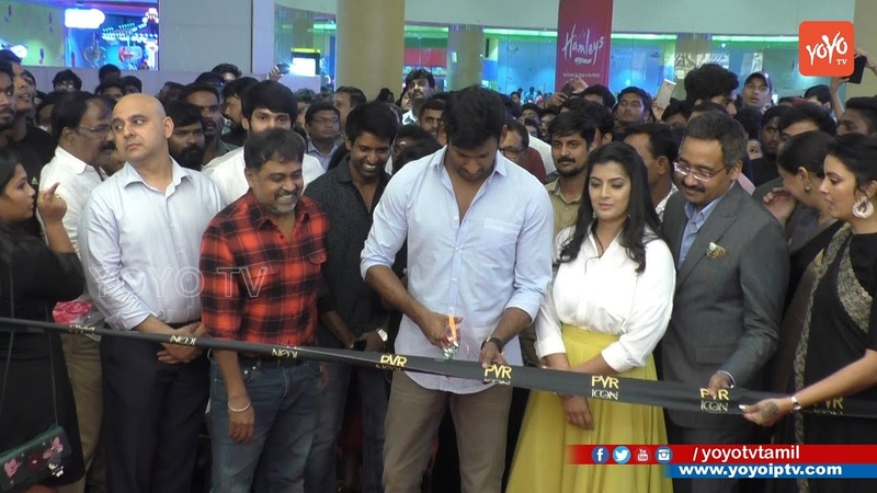 Celebrities Launch PVR ICON Chennai's first ever 10 screen multiplex at VR Mall YOYO TV Tamil