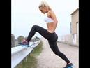 Workout girls at gym, leggings shows by kallyz brand