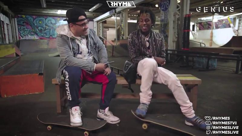Rich The Kid катается на скейте и рассказывает о первых микстейпах и бифе с Lil Uzi Vert Переведено