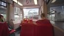 Austria, Vienna, U-Bahn ride from Neue Donau to Handelskai