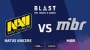 Natus Vincere vs MIBR, Mirage, part 2, BLAST Pro Series: Lisbon 2018