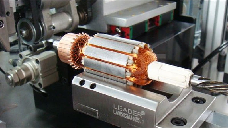 Awesome Modern Automatic Winding Machine Work in Factory, Fastest Automatic Coil Winding Machine