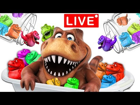 Learn Colors with Lots of Squishy Dinosaurs | LIVE | Mega Compilation by KC Toys