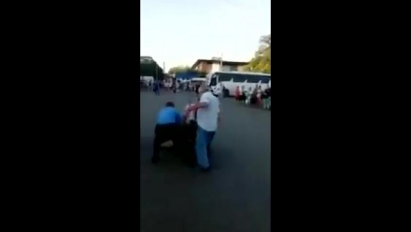Кто еще не видел, как местная, симферопольская полиция встречает туристов, которые приехали посмотреть как падают с неба камни