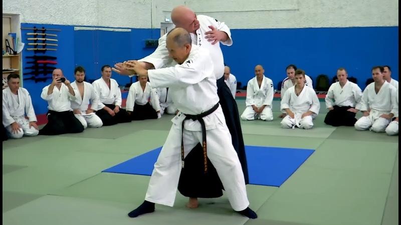 Daito ryu Aikijujutsu seminar by Katsuyuki Kondo sensei in Moscow in October 2018