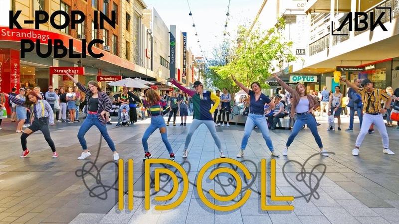 K POP IN PUBLIC BTS 방탄소년단 IDOL 아이돌 Dance Cover by ABK Crew from Australia IDOLChallenge