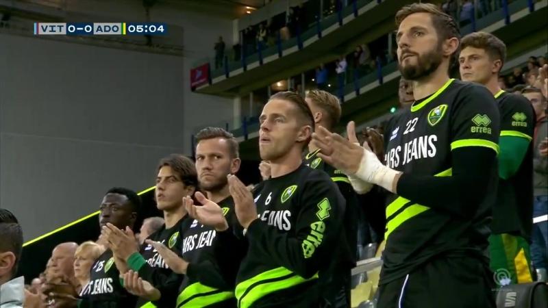 FOX Sports on Twitter Een prachtig minuut applaus tijdens Vitesse – ADO Den Haag vanwege de verschrikkelijke gebeurtenis in Oss