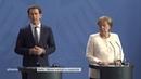 Pressekonferenz mit Bundeskanzlerin Angela Merkel und Österreichs Kanzler Sebastian Kurz am 12.06.18
