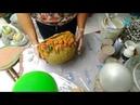 Vaso de tecido e cimento para decoração