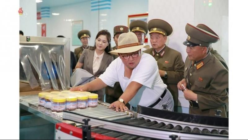 경애하는 최고령도자 김정은동지께서 금산포젓갈가공공장을 현지지도하시였다