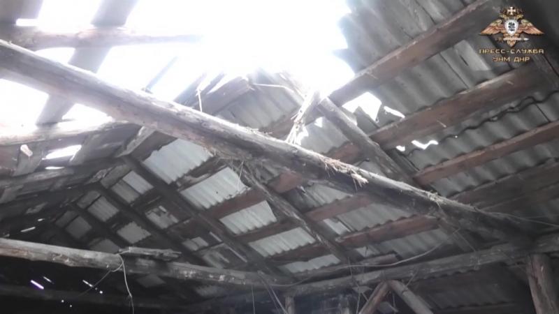 Артобстрел посёлка шахты им Гагарина