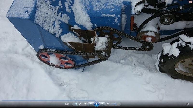 Обзор самодельного шнеко роторного снегоуборщика Борьба с глубоким снегом