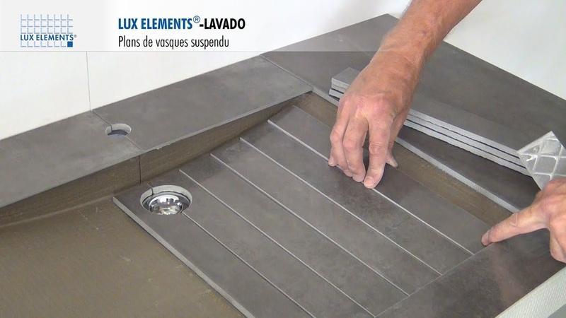 LUX ELEMENTS Montage : LAVADO - Plan de vasque - Design et Suspendu